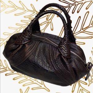 Fendi Dark Brown Nappa Leather Baby Spy Bag